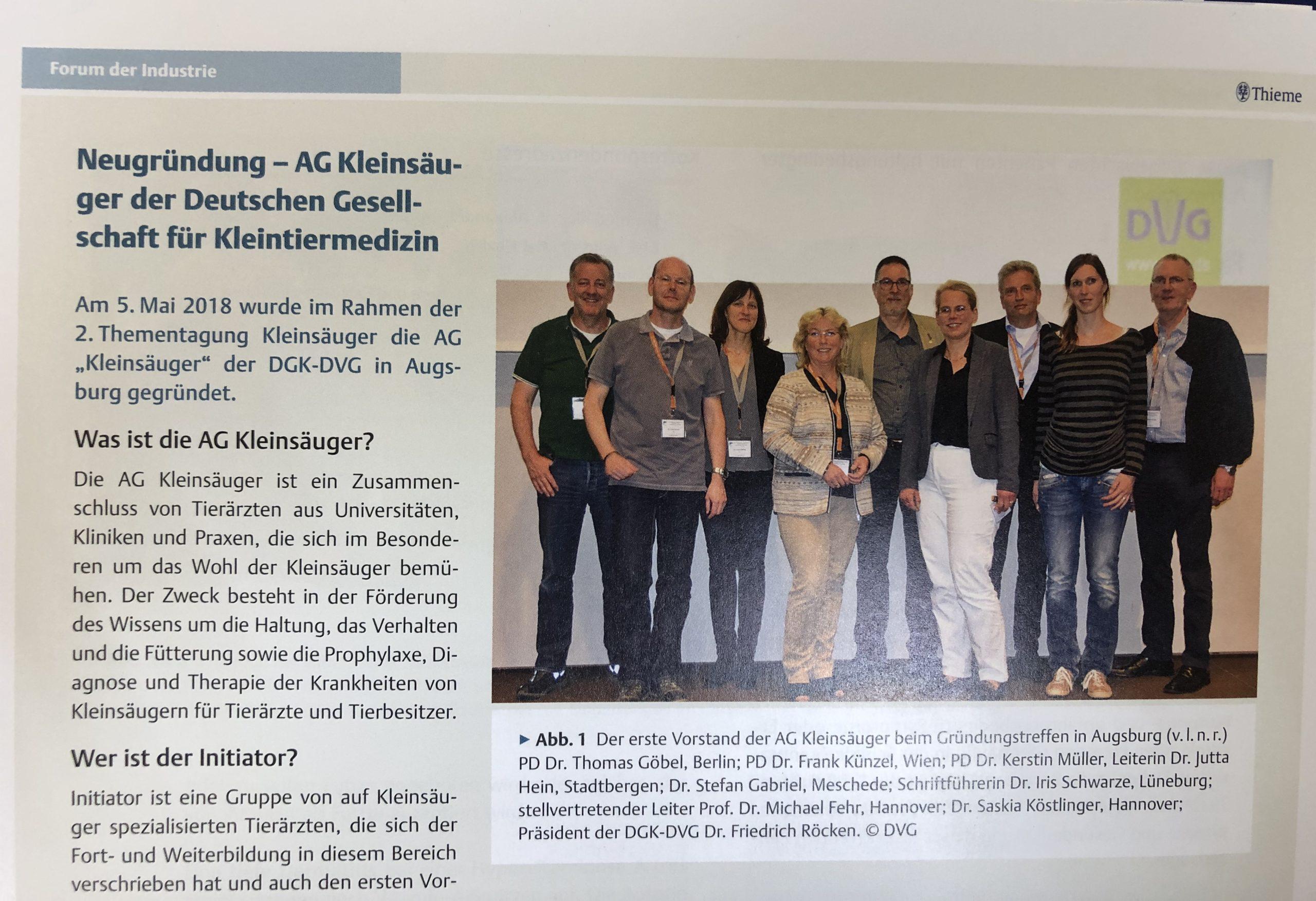 """Featured image for """"Neugründung  – AG Kleinsäuger der Deutschen Gesellschaft für Kleintiermedizin."""""""